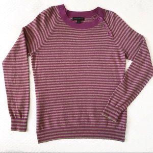 Banana Republic Lux Cashmere Blend Striped Sweater